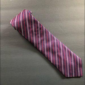 Fabio Ferretti Red White and Blue Striped Tie